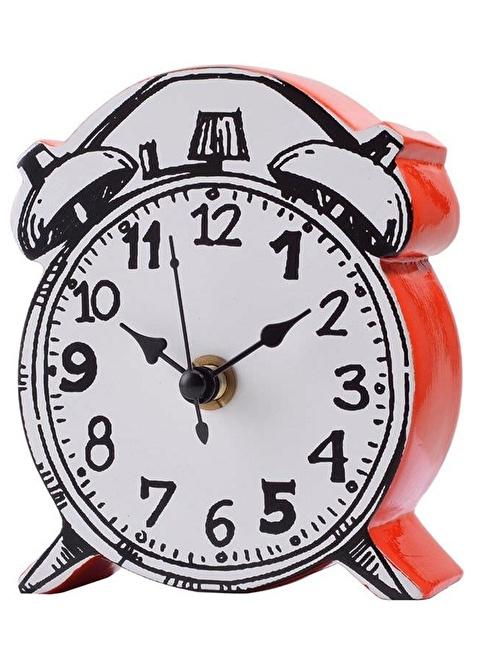 Warm Design Karikatürize Saat Kırmızı